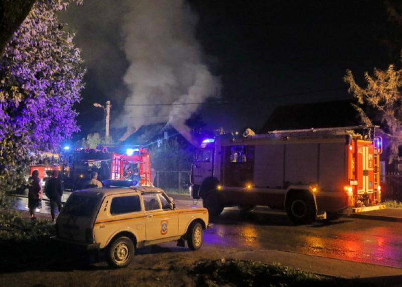 В Кадымовском районе в огне пострадал мужчина