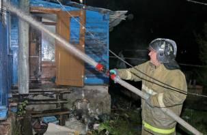 Подвоз воды – в семи километрах. Смолянин спас ребенка из горящего дома
