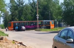 Калина протаранила трамвай в Смоленске
