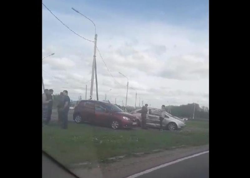 Видео ДТП на окружной Смоленска появилось в Сети