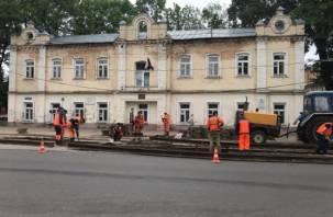 В центре Смоленска начался масштабный ремонт трамвайных путей
