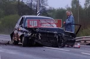 В Рославльском районе в тройном ДТП с автобусом есть пострадавший