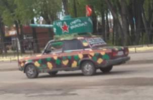 В Рославле замечен необычный танк
