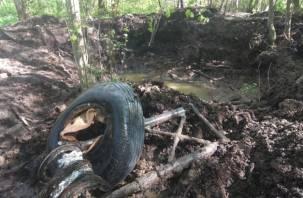 Называли «черной смертью». На Смоленщине из болота подняли Ил-2 времен ВОВ