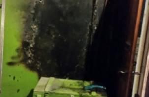 В Смоленске полыхали входные двери квартир на Петра Алексеева
