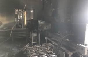 Сотрудники пытались потушить. На территории смоленского предприятия произошел пожар
