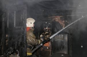 В Смоленске в горящем доме погибла женщина