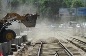 Смолянам пообещали бесшовные трамвайные пути на проспекте Гагарина