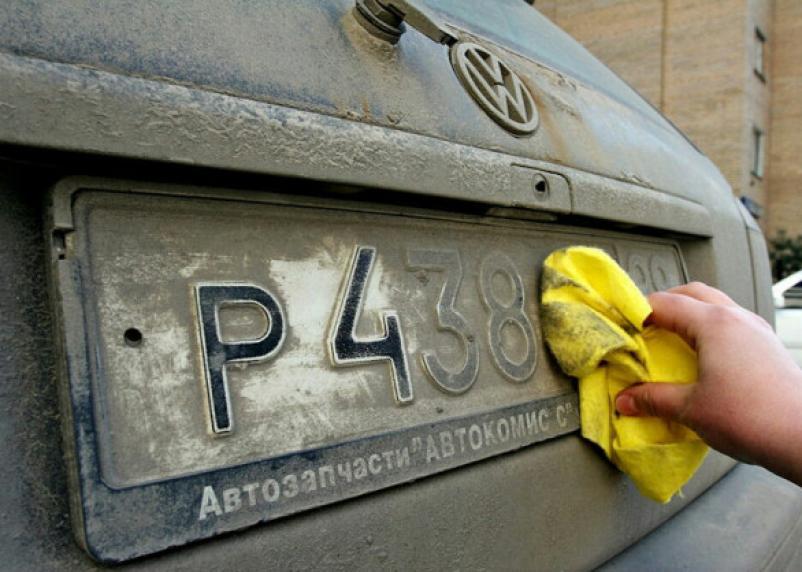 В России за грязные номера могут лишить прав