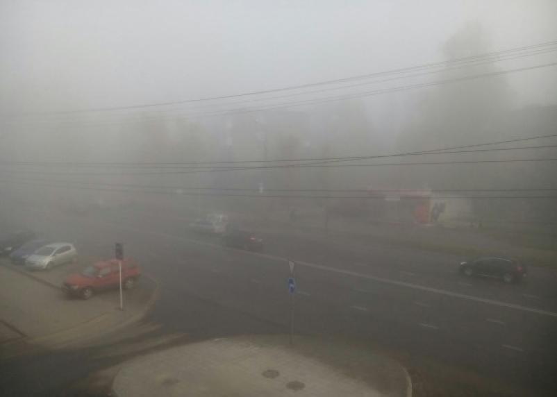 Туман и дождь ожидают смолян в четверг