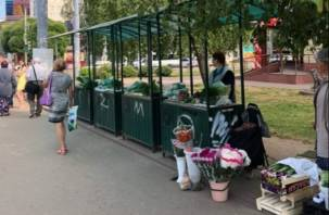 В Смоленске на Поповке организовали места для торговли дачников