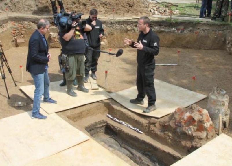 В Смоленске обнаружены останки наполеоновского генерала Гюдена