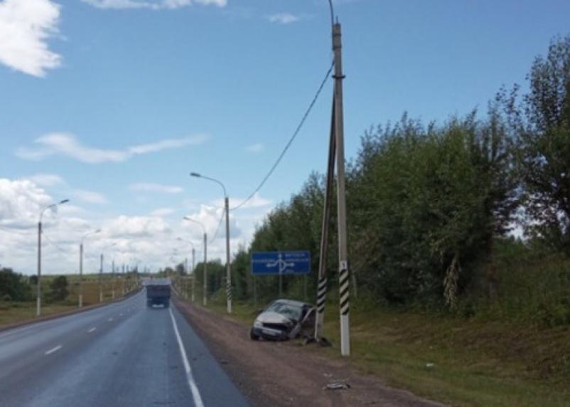 Подробности ДТП на окружной Смоленска. Пострадал водитель Калины и два ребёнка
