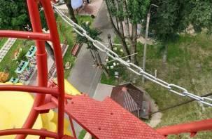 В Рославле наконец-то официально открыли колесо обозрения