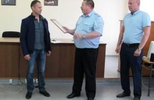 Держал до приезда полицейских. В Смоленской области наградили вязьмича за задержание убийцы
