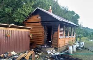 Банный день в Смоленском районе закончился пожаром и госпитализацией