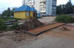 В Вязьме «осваивают» деньги на тротуары в никуда