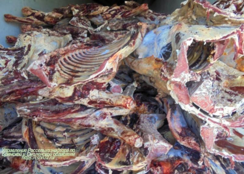 Через Смоленщину не пропустили 20 тонн сомнительного мяса