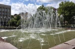 В Смоленске после Дня ВДВ запустили фонтаны