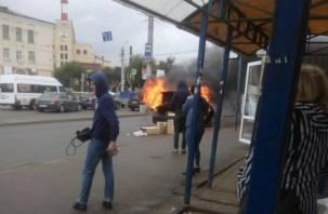 Пожар на Колхозной площади всполошил соцсети. В Сети появилось видео