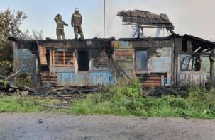В Смоленской области дети спалили дом
