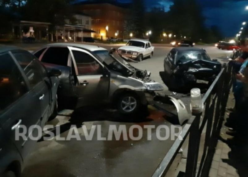 В Рославле произошла массовая авария