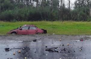 Водитель погиб на месте. В Гагаринском районе произошло ДТП с тремя авто