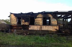 Пожар тушили более часа. Жительница Велижа доставлена с ожогами в больницу