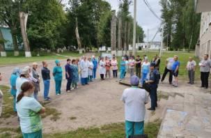 Больницу в Смоленской области эвакуировали
