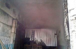 Огонь повредил кровлю. Под Смоленском пожарные тушили пилораму