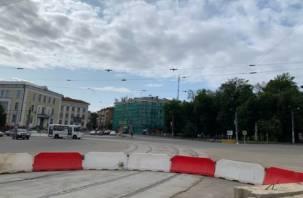 Проезд по площади Победы в Смоленске восстановлен