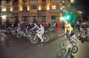 В Смоленске состоялся ночной велопарад