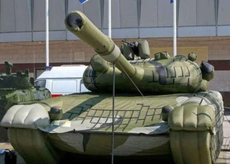 Российская надувная армия удивила китайцев
