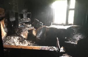 В Гагаринском районе в огне погибли женщина и мужчина