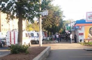 В Смоленске оцепили салон сотовой связи
