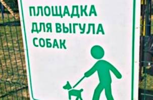 В смоленском парке оборудовали специальную площадку для выгула собак