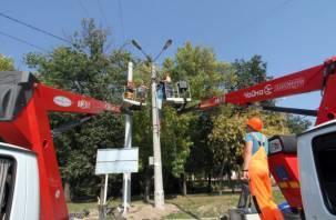В Смоленске меняют световые опоры на проспекте Гагарина