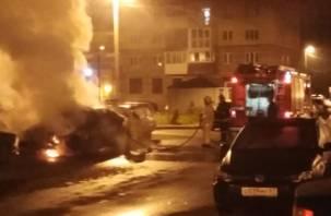 В Смоленске на Киевском шоссе сгорел автомобиль БМВ