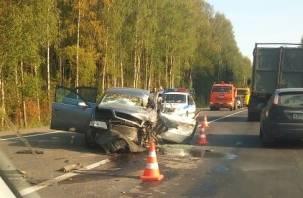 Видео смертельного ДТП в Гагаринском районе попало в Сеть