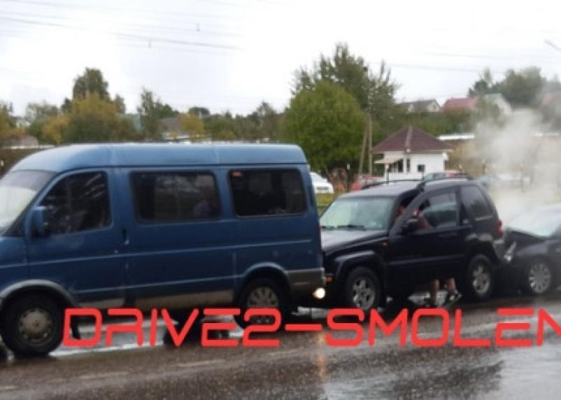 С дымком. На улице Маршала Еременко произошла тройная авария