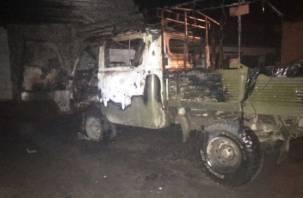 В Смоленском районе сгорел УАЗ