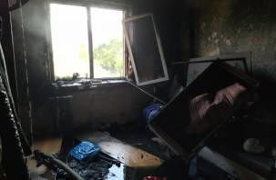 В Смоленске в горящей квартире пострадала женщина