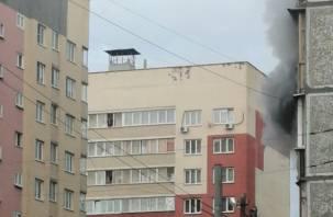 Утренний пожар в Смоленске. Женщина госпитализирована