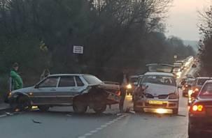 В Смоленске произошло лобовое ДТП