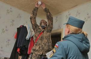 В Смоленске сотрудники МЧС устанавливают в квартирах дымовые датчики