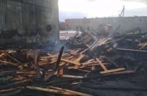 Из-за неисправности печи смоляне лишились дощатой постройки
