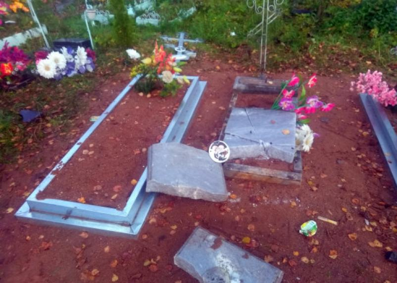 В смоленской деревне вандалы разгромили кладбище