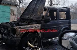 В Смоленском районе огонь уничтожил дорогую иномарку