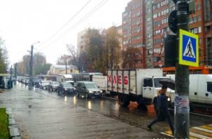 Центр Смоленска остался без трамваев