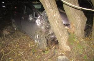 В Смоленске иномарка врезалась в дерево. Автоледи госпитализирована